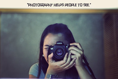 photography helps people to see
